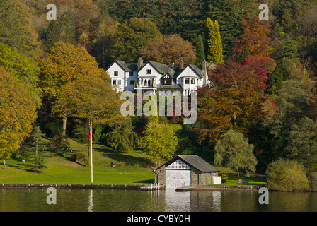 Fisher's House, overlooking Lake Windermere, Lake District National Park, Cumbria UK - Stock Photo