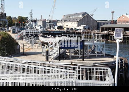 Boston Massachusetts Charlestown Naval Yard Home Of The USS Constitution September 2012 - Stock Photo