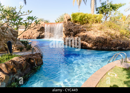 Waterfall In The Swimming Pool Of The Emirates Palace Hotel Abu Stock Photo Royalty Free Image