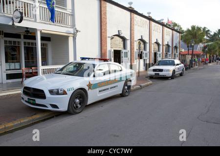 monroe county sheriff and key west police patrol squad car key west florida usa - Stock Photo