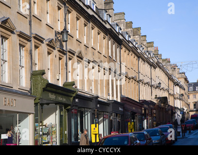 Shops on Milsom Street, Bath, Somerset, England - Stock Photo