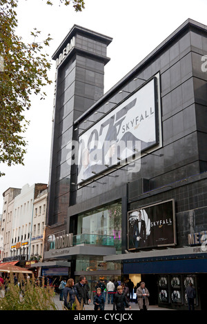 Odeon cinema in Leicester Square showing Bond Film, 'Skyfall', London - Stock Photo