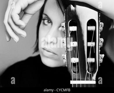 guitar,musician,guitar player - Stock Photo
