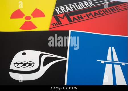 Artwork from Kraftwerk the catalogue box set - Stock Photo