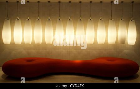 A lounge in a bar in Bilbao, Spain. - Stock Photo