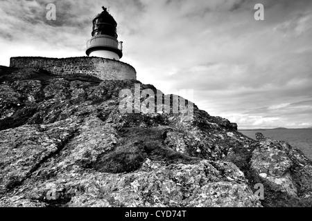 Ushenish Lighthouse, South Uist, Scotland - Stock Photo