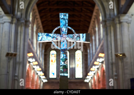 celtic cross altar cross st annes cathedral belfast northern ireland uk - Stock Photo