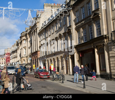 Shoppers Milsom Street Bath Somerset England - Stock Photo