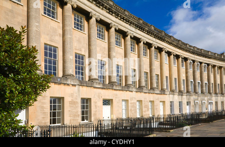 Royal Crescent, Bath, Somerset, England Georgian architecture architect John Wood the Younger built between 1767 - Stock Photo