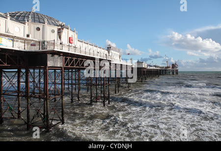 Brighton Palace Pier in the Winter - Stock Photo