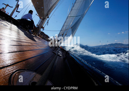 classic yacht shamrock v racing in the mediterranean off cannes in stock photo 33146593 alamy. Black Bedroom Furniture Sets. Home Design Ideas