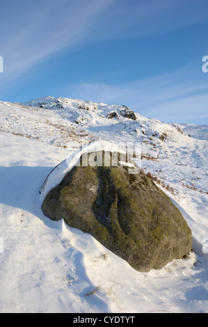 Buchan Hill in winter snow, Galloway Hills, Dumfries & Galloway, Scotland - Stock Photo