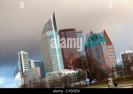 The Netherlands, Den Haag, The Hague, View of modern architecture. Mainly ministries. - Stock Photo
