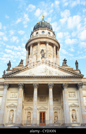 Gendarmenmarkt, French Cathedral faced in Berlin - Stock Photo