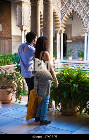 Spain, Andalucia Region, Seville Province, Seville, The Alcazar, visitors - Stock Photo