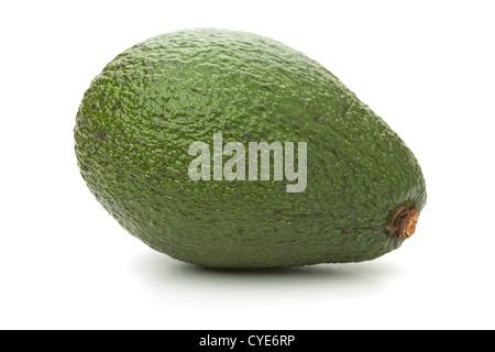 Fresh avocado. Isolated on white background - Stock Photo