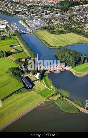 The Netherlands, Lemmer, steam-driven pumping engine called the Ir.D.F. Woudagemaal, UNESCO World Heritage Site. - Stock Photo
