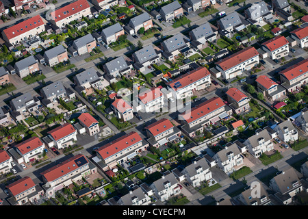 The Netherlands, Leeuwarden, Aerial. Residential district. - Stock Photo