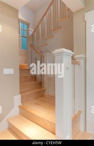 Modern Home Stairway - Stock Photo
