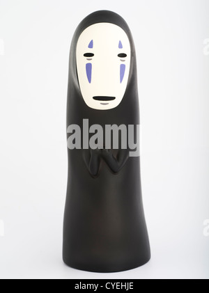 No-face toy from anime movie Spirted Away / Sen to Chihiro, directed by Hayao Miyazaki, produced by Studio Ghibli - Stock Photo