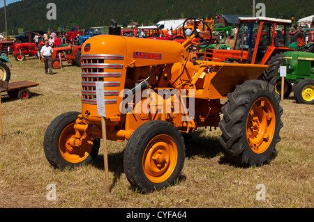 Exhibition of veteran tractors and other agricultural implements Tracto Mania, La Brevine, Jura, Switzerland - Stock Photo