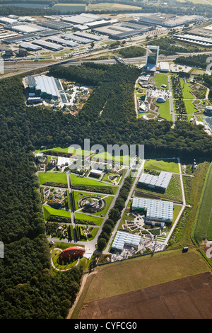 The Netherlands, Venlo, FLORIADE, the World Horticultural Expo 2012, once every 10 years. Aerial. - Stock Photo