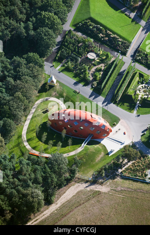 The Netherlands, Venlo, FLORIADE, the World Horticultural Expo 2012, Aerial. Pavilion called My Green World. - Stock Photo