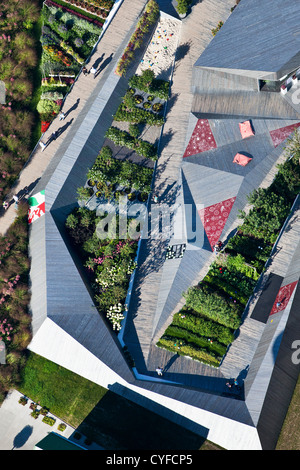 The Netherlands, Venlo, FLORIADE, the World Horticultural Expo 2012, Pavilion of the German Government. - Stock Photo
