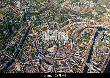The Netherlands, Middelburg, City center. Aerial. - Stock Photo