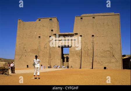 Egypt. Edfu. Temple of Horus. - Stock Photo