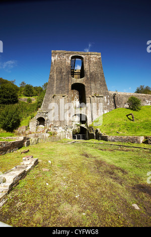 The Balance Tower in Blaenavon Ironworks Museum, Blaenavon, Wales, UK - Stock Photo