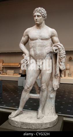 Marble youthful Hercules Flavian Roman Italy - Stock Photo