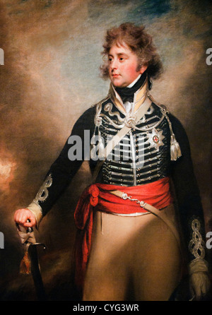 King George IV 1762–1830 When Prince of Wales by Sir William Beechey English 142.9 x 113 cm - Stock Photo