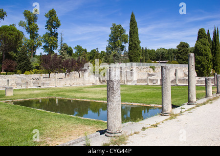 Roman ruins (Vaison-la-Romaine) - France - Stock Photo
