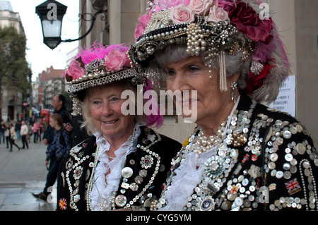Pearly Queens of London - Stock Photo