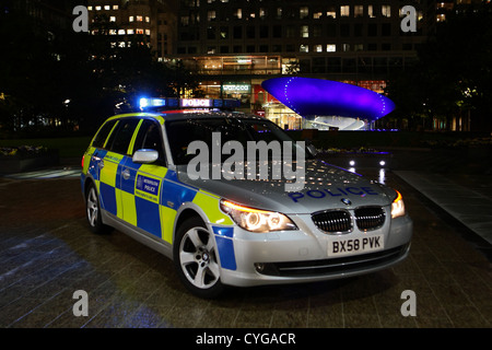 Metropolitan Police BMW traffic car - Stock Photo