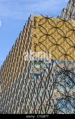 Partial view of the new Library of Birmingham designed by Dutch architects Mecanoo and due to open in September - Stock Photo