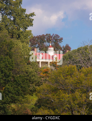 MOUNT VERNON, VIRGINIA, USA - historic home of George Washington, first President of United States, seen from Potomac - Stock Photo