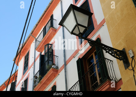 Gebäude, Carrer del Vi, Palma, Mallorca, Spanien, Europa. | Building, Carrer del Vi, Palma, Majorca, Spain, Europe. - Stock Photo