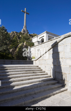 San Lorenzo del Escorial, Spain - December 27, 2009: Valley of the Fallen, ordered built by General Francisco Franco, - Stock Photo