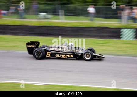 Type 79 Formula One Lotus racing car on a race track in Brands Hatch.