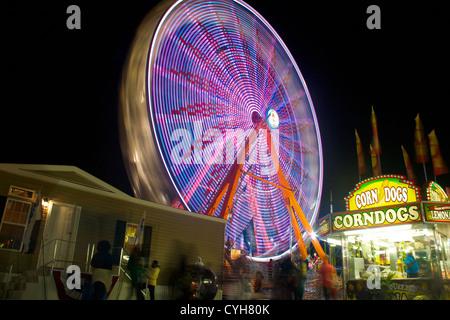 A fair wheel in motion - Stock Photo