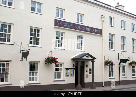 Ye Olde Bulls Head Inn in Beaumaris Anglesey - Stock Photo