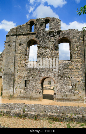 Wolvesey Castle (EH) Old Bishops Palace Winchester Hampshire England UK - Stock Photo