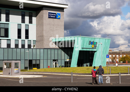New Bolton One building, health, leisure and research centre, (University of Bolton + NHS + Council), Bolton, Gtr - Stock Photo