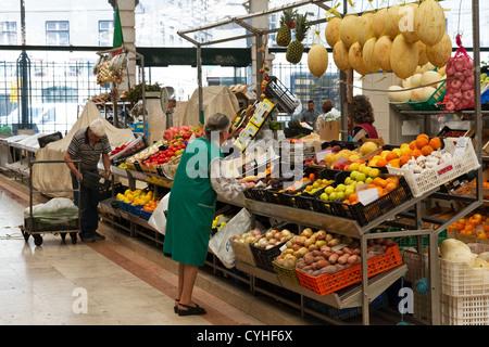 Mercado da Ribeira (farmers market) ,  Avenida 24 de Julho, central Lisbon, Portugal - Stock Photo