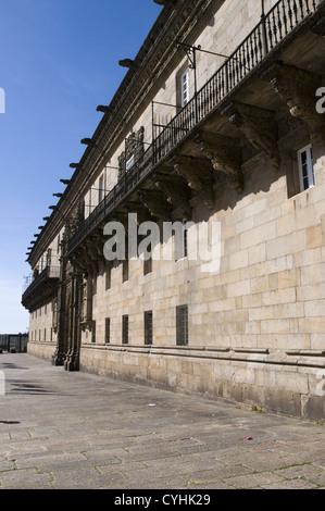PARADOR DOS REIS CATOLICOS IN SANTIAGO DE COMPOSTELA, GALICIA, SPAIN - Stock Photo