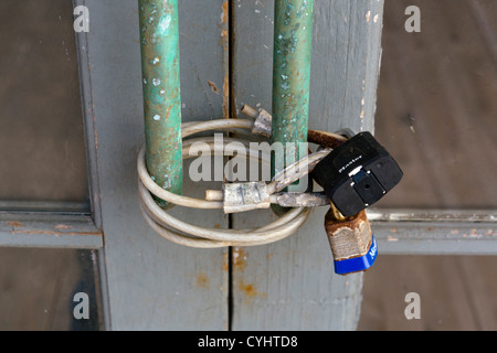 Locked doors · Padlocked door on a disused property in Port Townsend Olympic Peninsula Washington USA & padlocked door Stock Photo Royalty Free Image: 74761230 - Alamy Pezcame.Com