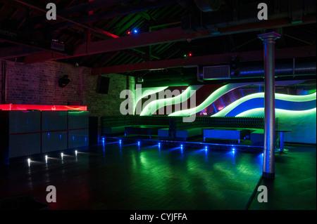 ... Night Club Dance Floor And Seating, Interior Design   Stock Photo