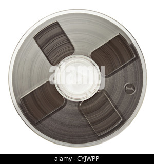 Vintage magnetic audio reel, isolated. - Stock Photo